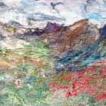 Felted Landscape of mountains